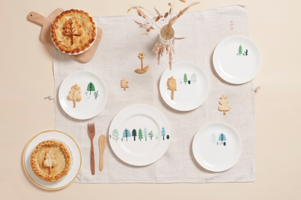 Gareth Hacker - Ceramics - Trees Dinner Plate and Trees Plates_preview